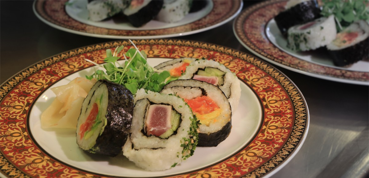 Selection of maki rolls