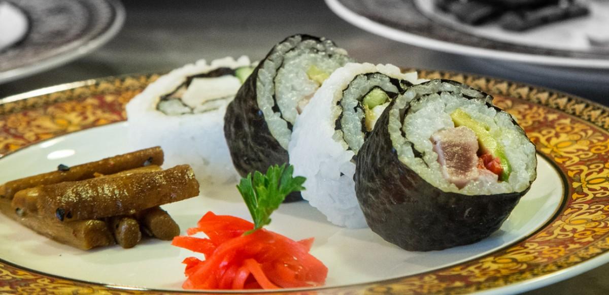 Sushi roll au tataki de thon