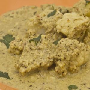 Curry de choux fleur et pomme de terre au lait de coco