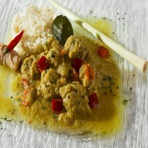 Curry Thai de porc au lait de coco